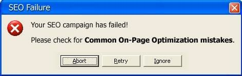common onpage seo mistakes