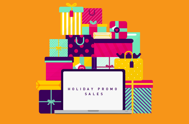write holiday sales promos