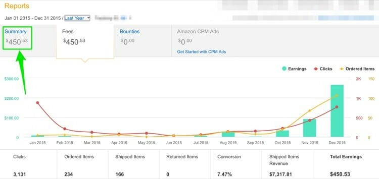 Amazon Affiliate Site Revenue