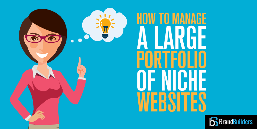 Manage large portfolio of niche sites