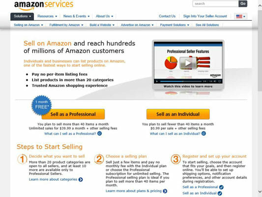 amazon professional merchant