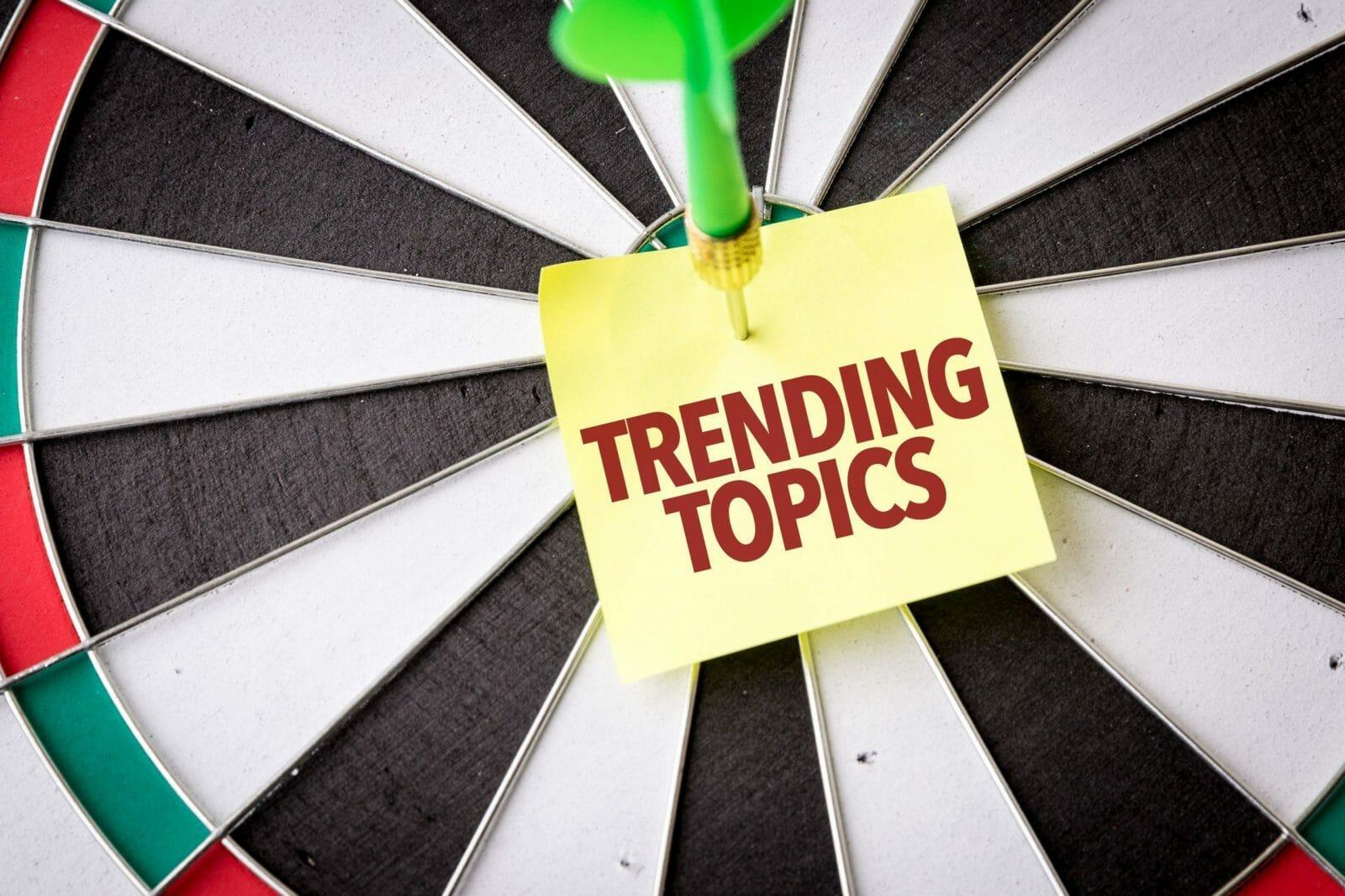 Trending Topics sign