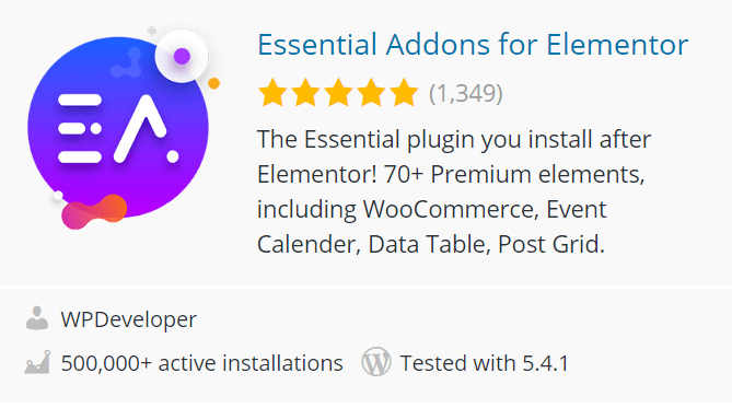 Essential Addons for Elementor WordPress Plugin