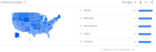 Google Trends Map