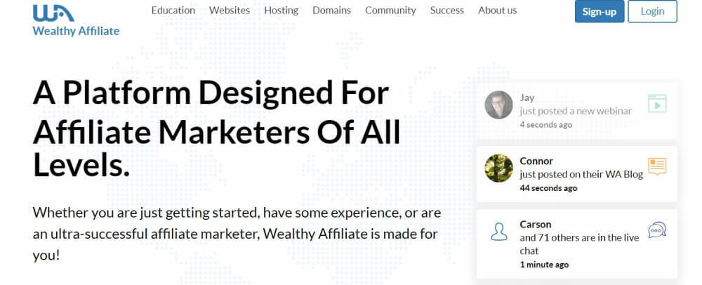Wealthy Affiliate membership site