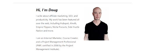 Doug Connington - niche site project