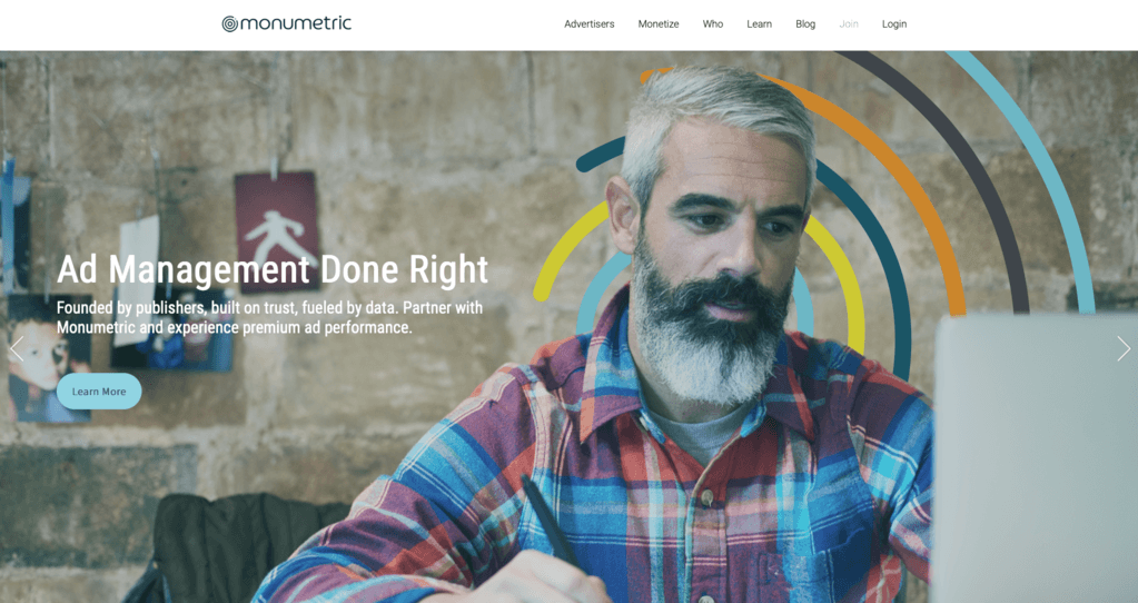 monumetric homepage