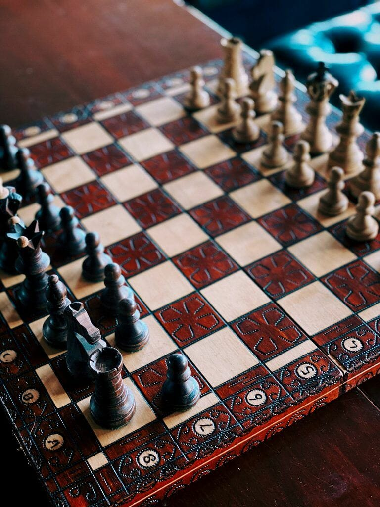 chess board for affiliate marketing example