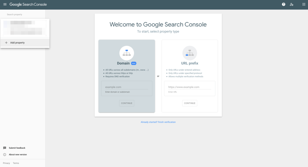 installing search console for google search console