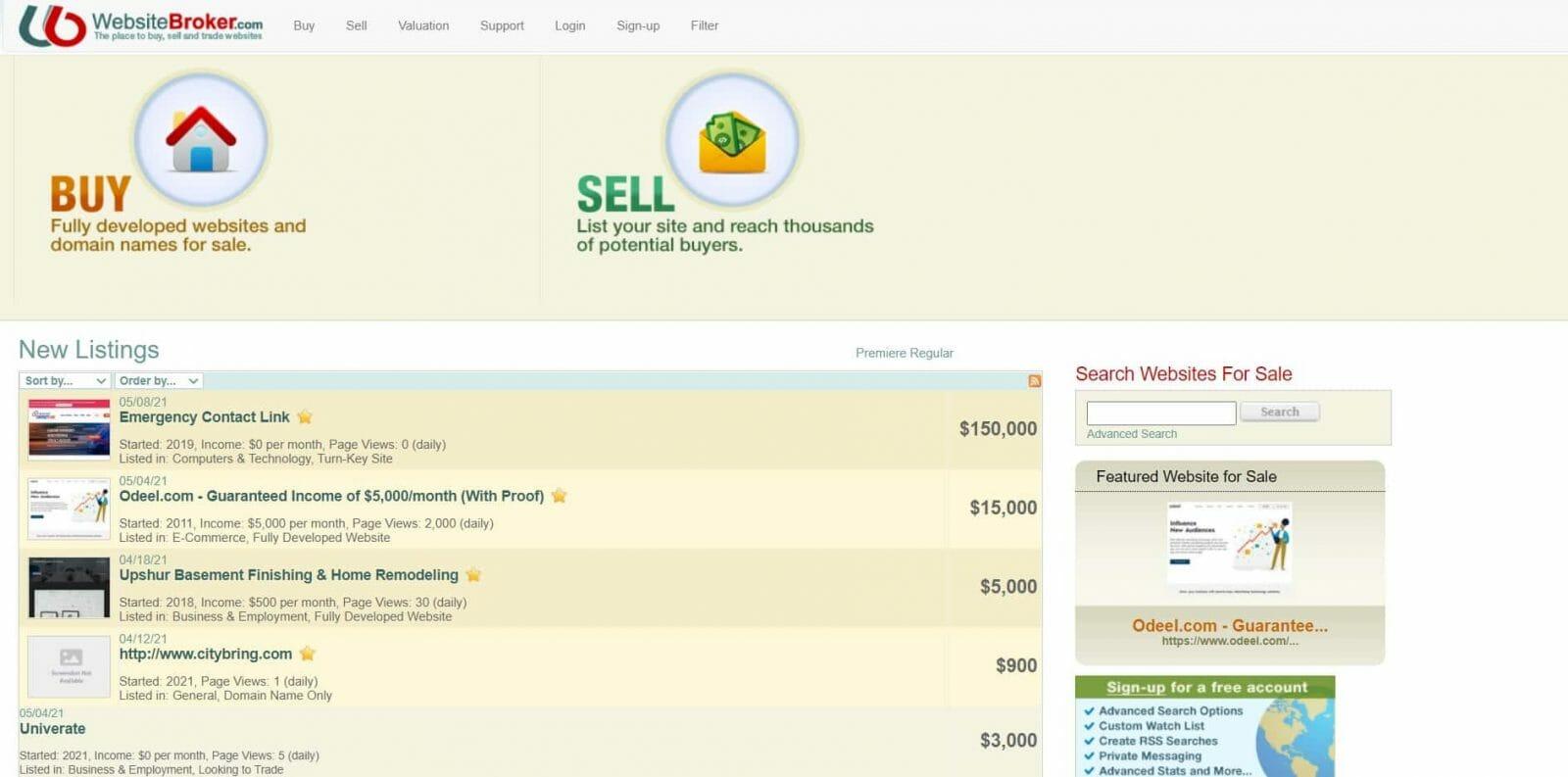 Website Broker